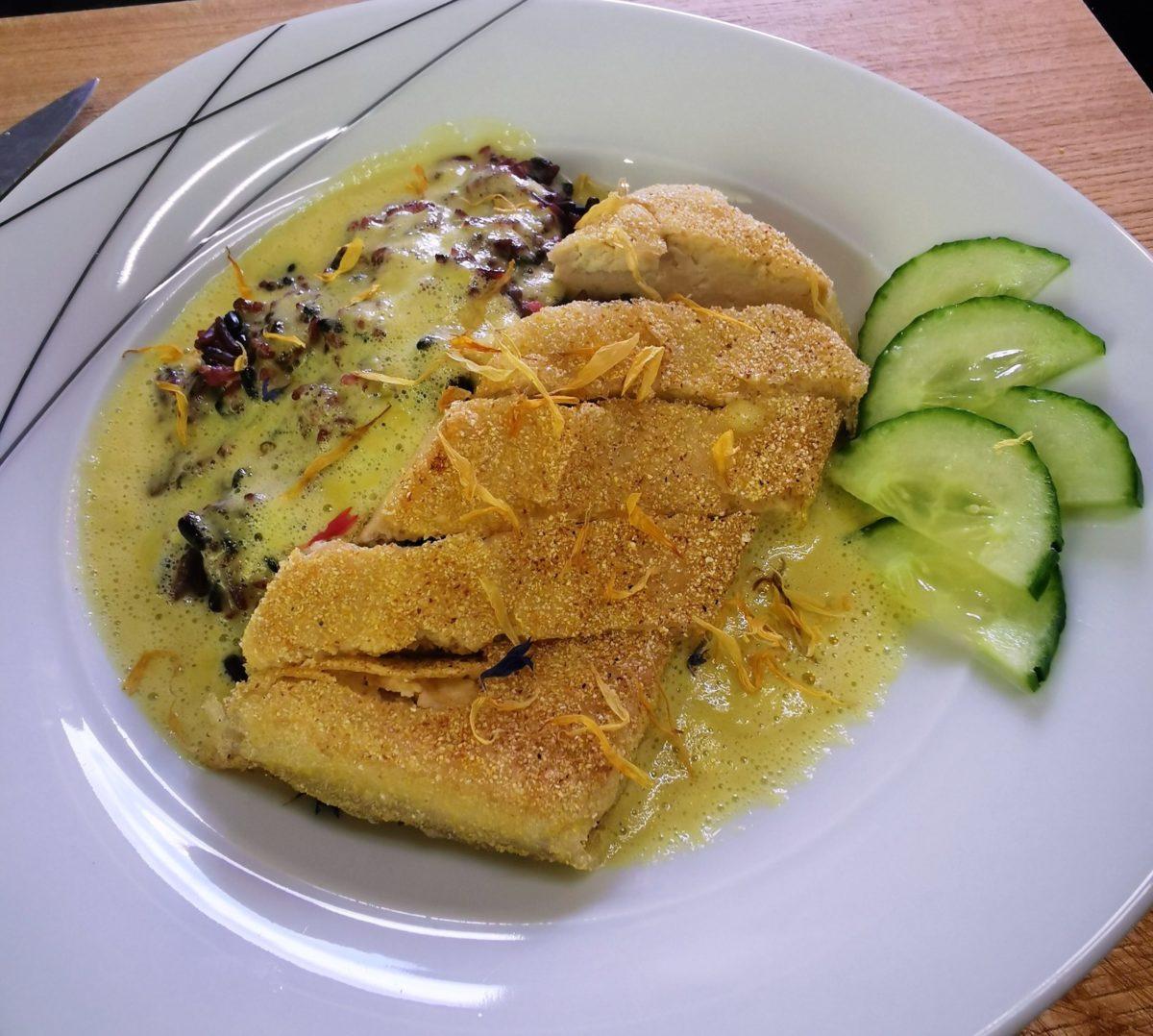 KochKunst – Königsreis Tofu Mangokokossoße