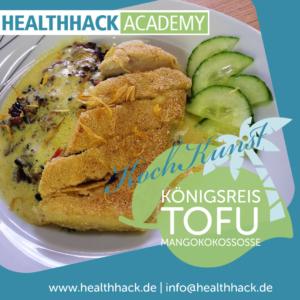 Kochkunst-Königsreis Tofu Mangokokossoße