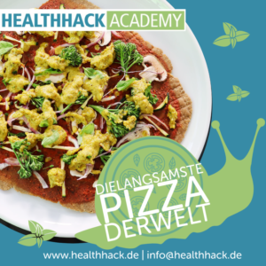 Rohkost Pizza selbstgemacht